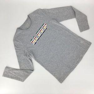 HBC Stripes 'SLEEP' Pyjama Top, Small